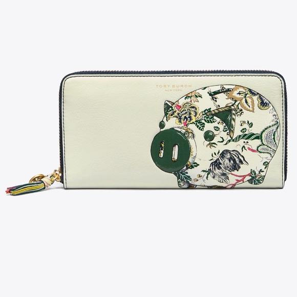 09891a54da7d Tory Burch Peggy The Pig Zip Continental Wallet
